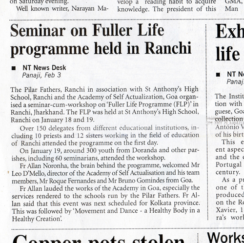 Seminar on Fuller Life Programme held in Ranchi