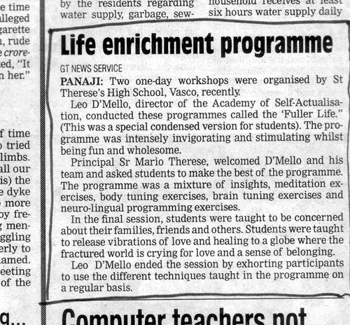 Life enrichment programme