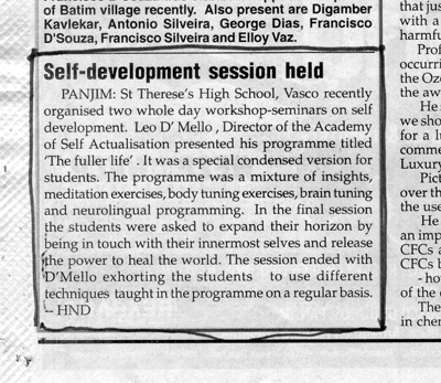 Self-development session held