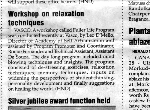 Workshop on relaxation techniques
