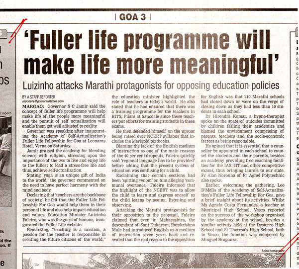 Fuller Life Programme will make life more meaningful