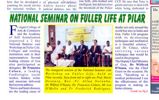 National Seminar on Fuller Life at Pillar