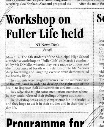 Workshop on Fuller Life held